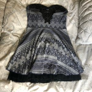 Strapless Free People cocktail dress